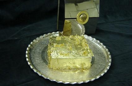 Altın süslü dondurma