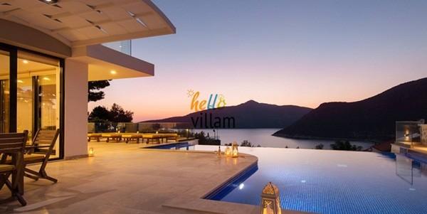 Antalya Kalkan'da villada tatil